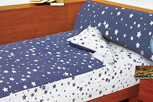 Saco Nórdico Estrellas DENIM STAR (Azul, para cama de 90x190/200)