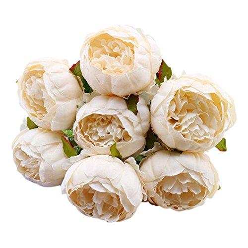 ß Vintage Künstliche Pfingstrose Seide Blumen Bouquet für Home Decor Party Tafelaufsätze Dekoration C ()
