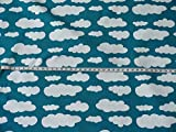 Fitzibiz Jersey Wolken Verena dunkelpetrol von Swafing Öko-Tex Standard 100 (ab 25cm x 160cm)