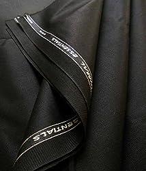 Vimal Mens Polyblend 1.2m Black MattyTrouser Fabric