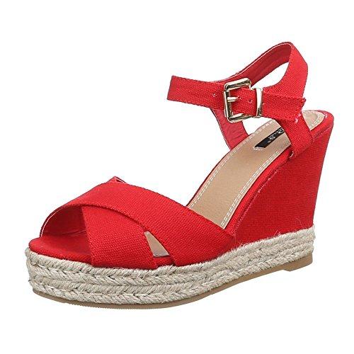 Ital-Design , chaussures compensées femme Rouge