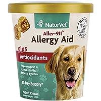 NaturVet aller-911alergia Ayuda Plus antioxidantes para Perros, 70CT Dental para Suave, Fabricado en Estados Unidos