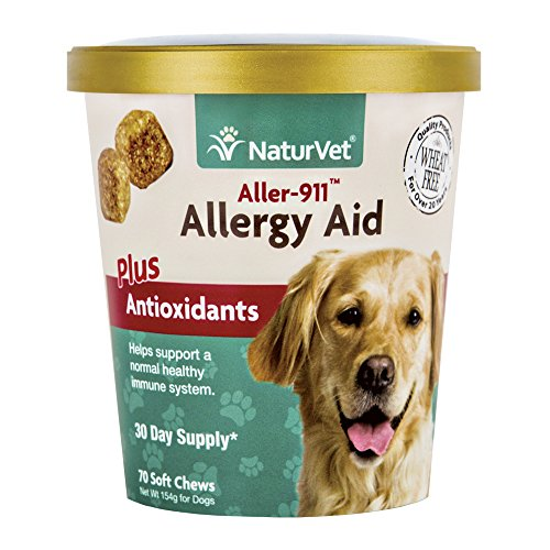 Artikelbild: NaturVet aller-911 Allergy Hilfe Plus Antioxidantien für Hunde, 70 ct Soft Kaubonbons, Made in USA