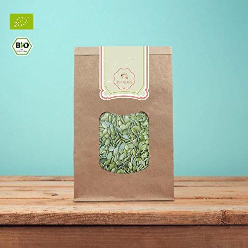 süssundclever.de® geschälte Bio Kürbiskerne | Shine Skin | 5 kg Maxipack (5 x 1 kg) | Premium Qualität | naturbelassen | plastikfrei und ökologisch-nachhaltig abgepackt