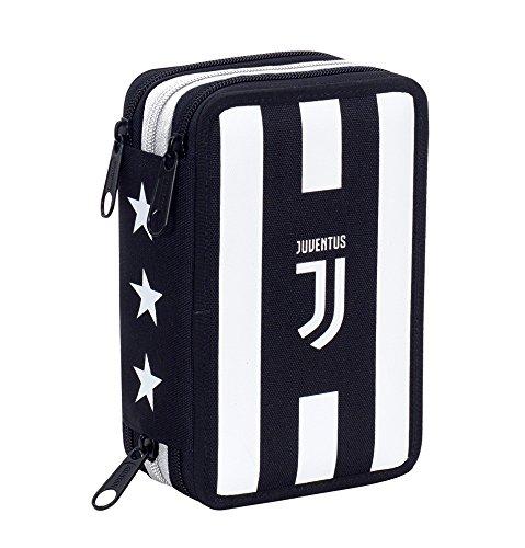 Estuche 3 Cremalleras , Juventus Fc , Assist , Pisos con Contenido: Lápices, Rotuladores …