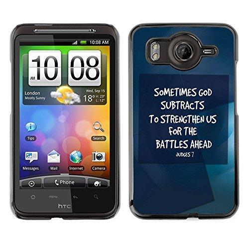 DREAMCASE Bibelzitate Bild Hart Handy Schutzhülle Schutz Schale Case Cover Etui für HTC DESIRE HD / INSPIRE 4G - manchmal Dildos Rate subtrahiert starken US - Richter 7 (Inspire Htc Cover)