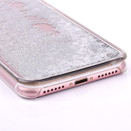 iPhone 7 Silikon Hülle,iPhone 7 Glitzer Hülle,iPhone 7 Transparent Hülle,iPhone 7 Crystal Clear TPU Case Hülle Klare Cristall Silikon Gel Schutzhülle Etui für iPhone 7 4.7 Zoll,EMAXELERS iPhone 7 (4.7 B Star Liquid 5