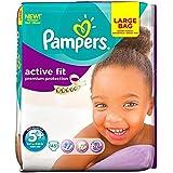 Pampers active Junior Plus 13-27kg 5 + Fit Taille (45) - Paquet de 2