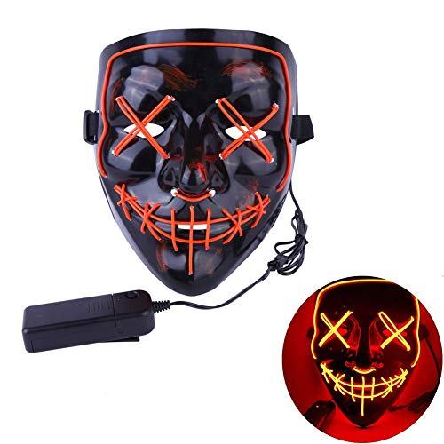 de2764b2 HyPee Halloween Mask LED Light up Purge Mask for Festival Cosplay Halloween  Costume