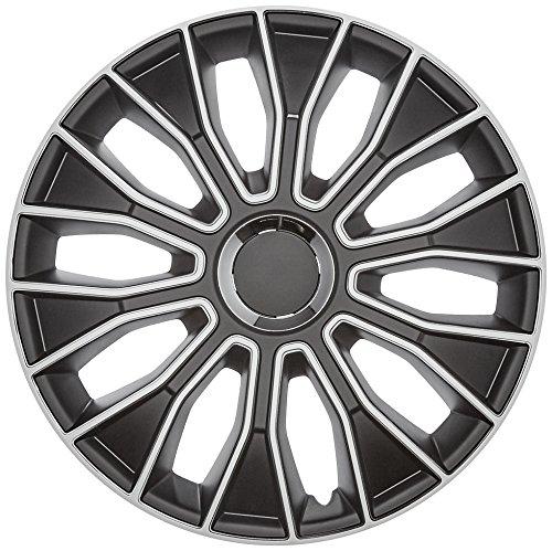 AutoStyle PP 5213Juego Tapacubos Voltec Pro de 13pulgadas, Negro/Blanco