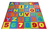 Baybee Premium Multi-Color EVA Mats for Kids- 36 PCs- A to Z Aplhabet & 0 to 9 Numbers- and colors may vary (1 Feet x 1 Feet Single - 36 PCs Kit)