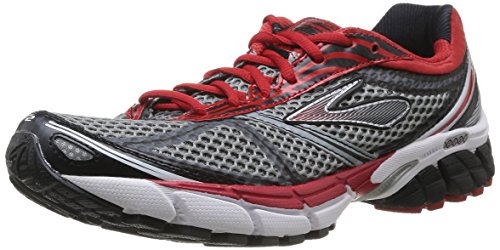 Brooks 1101691D035 - Zapatos para hombre, Gris / Rojo / Negro, 45.5