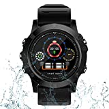 IDOOSMART Bluetooth Smartwatch, Sportuhren, Fitness Tracker mit Pulsmesser, Activity Tracker mit IP68 wasserdicht, Schlafmonitor, Schrittzähler, Blutdruckmessgerät für Samsung Android iOS