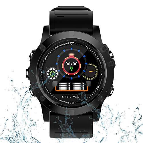IDOOSMART Bluetooth Smartwatch, Sportuhren, Fitness Tracker mit Pulsmesser, Activity Tracker mit IP68 wasserdicht, Schlafmonitor, Schrittzähler, Blutdruckmessgerät für Samsung Android iOS