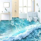 Mddrr Benutzerdefinierte Selbstklebende Boden Wandbild Tapete Moderne Sea Wave 3D Bodenfliesen Aufkleber Badezimmer Schlafzimmer Pvc Wasserdichte Tapeten 3 D- Hd-Druck - Moderne Dekoration-140X100Cm
