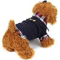 Ropa de mascotas Amlaiworld Sudaderas Suéter Camisas de Mascotas gatos perros 2018 abrigo punto ropa chaleco chaqueta para mascotas (Negro, M)