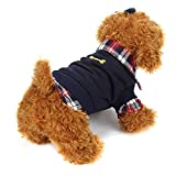 Ropa de MascotasSudaderas Suéter Camisas de Mascotas Gatos Perros 2018 Abrigo Punto Ropa Chaleco Chaqueta para Mascotas (Negro, S)