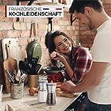 Bernard's® Salz und Pfeffer Mühle (2er Set) mit verstellbarem Keramikmahlwerk I Stilvolle Gewürzmühle & Chilimühle inkl. Gourmet-Kochbuch - 6