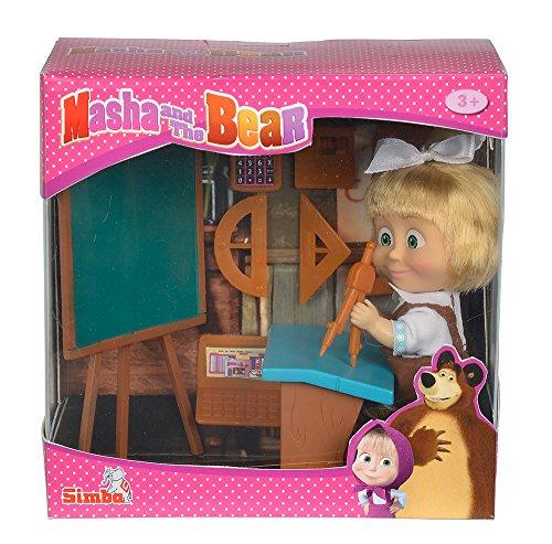 Simba 109301944 - Mascha und der Bär - Mascha Puppe in der Schule Preisvergleich