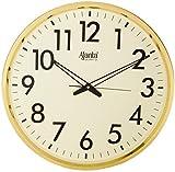 #4: Ajanta Quartz Wall Clock (32 cm x 32 cm x 2 cm, Ivory Dial and Golden Rim)