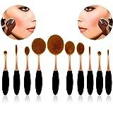 Bonice 10pcs Set/Kit Cosmétique Brush Pinceaux de Maquillage Ombre à Paupière Pinceaux Maquillage Cosmétique Professionnel Maquillage Brosse Fondation Shape Sourcils Pinceau Poudre