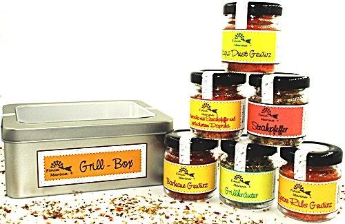 Grill - Box mit 6 köstlichen Gewürzmischungen von Finca Marina (Rib Marine 6)