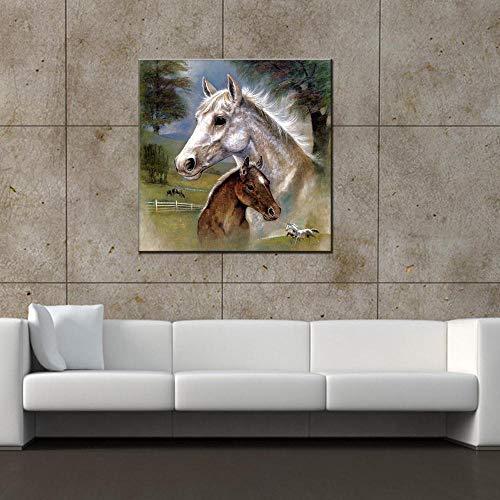 YB Kreative Kinderzimmer Schlafzimmer Nacht Malerei modernen minimalistischen Wandbild kleine frische Wohnzimmer dekorative Malerei, 80x80cm - öl-malerei Moderne