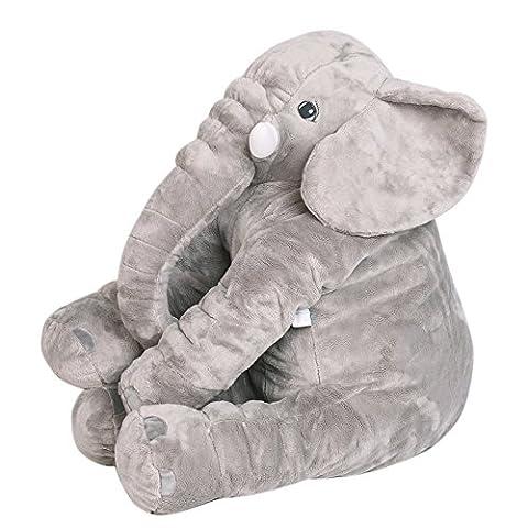 NHsunray Elefant Kissen Super Weiches Nettes Großes Angefüllte Tier Spielzeug Pal Plüsch Puppe für Baby Kinder Scherzt Geschenk (55x60cm / 21.6