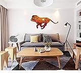 Afrika läuft löwe giraffe zebra silhouette Tier 3D wandaufkleber kreative abziehbilder für wohnzimmer kinder dekor wandbild poster