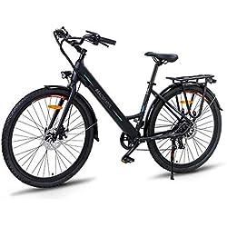"""Macwheel Ranger-500 Vélo Electrique VAE, 28"""" City E-Bike, 36V/10Ah Batterie Lithium-ION Amovible Intégré au Cadre, Shimano Dérailleurs à 7 Vitesses, Tektro Double Freins à Disque, Adulte Unisexe"""