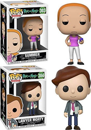 Funko POP! Rick & Morty: Summer + Lawyer Morty – Stylized Vinyl Figu