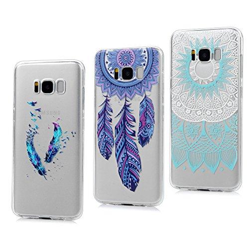 3x Funda para Samsung Galaxy S8, Carcasa Silicona Gel Case Ultra Delgado TPU Goma Flexible Cover para Samsung Galaxy S8 - Totem + Pluma De Color + Captura