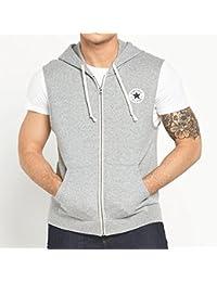 Converse - Sweat-shirt à capuche - Sans Manche - Homme Gris Gris