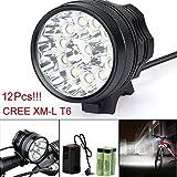 LED Taschenlampe,30000LM 12 x CREE XM-L T6 LED 6 x 18650 Fahrrad Radfahren Licht wasserdichte Lampe