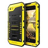 Beeasy Coque iPhone 7/8 Antichoc Étanche,Version Mise à Jour [Robuste|Qualité Militaire | Résistant|Metal|d'Armure|Antipoussière|Anti Pluie Neige|Étui Housse à l'Air Libre pour iPhone 7/8,Jaune