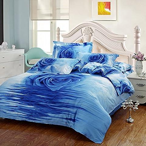 LLYY-moda algodón cuatro piezas románticas rosas azules stereo nueva 2016 cuatro set ropa de cama , picture 1 , 180*200cm