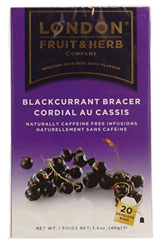 London Fruit & Herb Co Blackcurrant Bracer Fruit Tea 20 Bags (Pack of 2)
