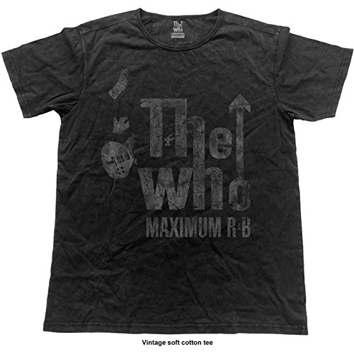 Musik Band T-shirt (The Who T Shirt Maximum R&B Band Logo Offiziell Herren Vintage Finish)