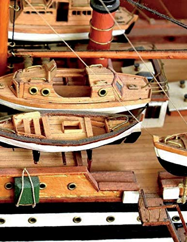 Model Ship Building Notebook Large Size 8.5 x 11 Ruled 150 Pages Softcover por Wild Pages Press