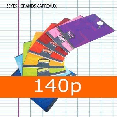 Clairefontaine Calligraphe 8000 108796C Cahier piqué couverture plastique 140 pages 90 g 24 x 32 cm Couleur Aléatoire