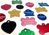 Providence Engraving Eloxiert Pet ID-Tags–Wählen Sie aus Knochen, Rund, Herz, Hydrant, Tatze, Oder Stern Formen–9Farbe Choices erhältlich