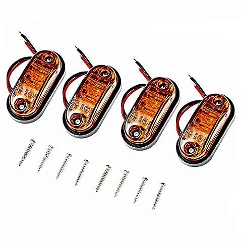 Justech 4 pcs Feux de Gabarit LED latéral Eclairage Feux