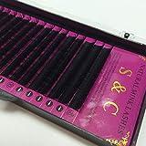 Generic J, 0.20mm : S&C 5trays,16rows/tray, extension eyelashes ,natural eyelashes,false eyelashes for