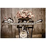 BilligerLuxus Wandbild Bild 60 x 90 cm Fahrrad Sepia Vintage braun Altrosa