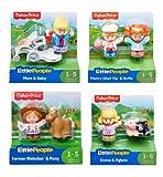 Tiere NEU Fisher Price Mattel Little People Gepard und Strauß Zoo Animal Kleinkindspielzeug