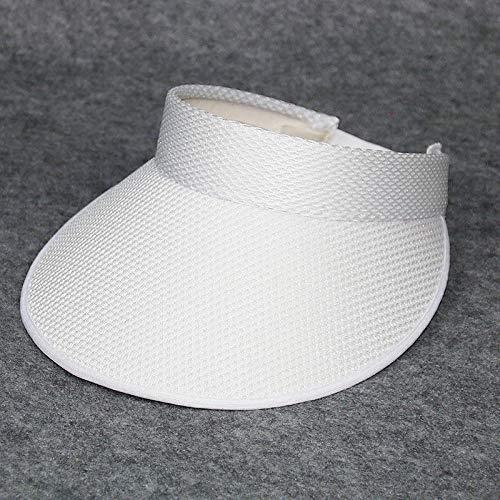 Visoren für Herren Visoren für Damen Baseball Caps Ladies Summer Sunshade Sonnenhut Volltonfarbe großes Gesicht Decken leeren Hut @ White
