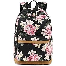 ed8d6de4dc66e Neuleben Rucksack Schulrucksack mit Blumenmuster USB Port für Damen Mädchen  Rucksäcke Daypack Schultasche 15