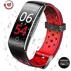 SUPTEMPO Montre Connectée Fitness Tracker Santé et Fitness Smartwatch Affichage d'écran Couleur Smart Bracelet Tracker d'activité Moniteur de Fréquence Cardiaque Fitness Health Smartwatch