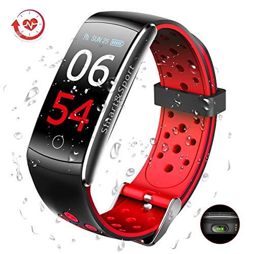 SUPTEMPO Smartwatch Orologio Fitness Tracker Pressione Sanguigna Impermeabile Smartband Activity Tracker con Cardiofrequenzimetro da Polso Contapassi per Donna Uomo per Huawei Samsung Xiaomi iPhone