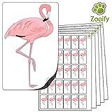 480 x Aufkleber - Flamingo . Hochwertige selbstklebende Etiketten mit